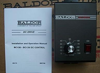 Baldor electric, bc138, 0-90vdc, 0. 33 hp, nema 1, dc drive: amazon.