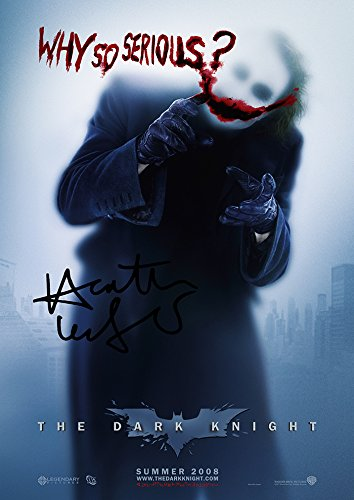 - Heath Ledger Batman Dark Knight Why so Serious? (11.7 X 8.3) Movie Print Heath Ledger The Joker