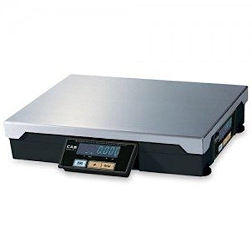 (CAS PD-2Z(60LB) Series PD-II POS Interface Scale, 60 Lbs Capacity, Interface with Most ECRs and POS Systems, Weighs in Pounds or Ounces, Standard Built-in Tilt Displays)