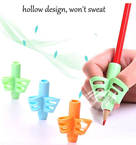 Pencil Grips - JuneLsy Pencil Grips for Kids Handwriting Pencil Grip Posture Correction Training Writing AIDS for Kids Toddler Preschoolers Students Children Special Needs (3Pack) by JuneLsy (Image #6)
