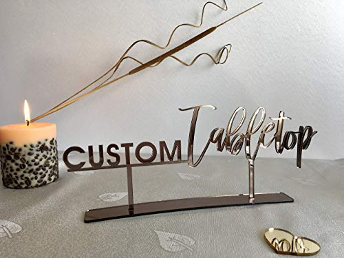 Sweetheart Guest Book - Your Custom Text Here Tabletop Sign Hashtag Personalized Wedding Calligraphy Laser Cut Acrylic Freestanding Sweetheart Table Decorations Desert Sign Party Welcome Wood Tag Home Decor Guestbook Signage