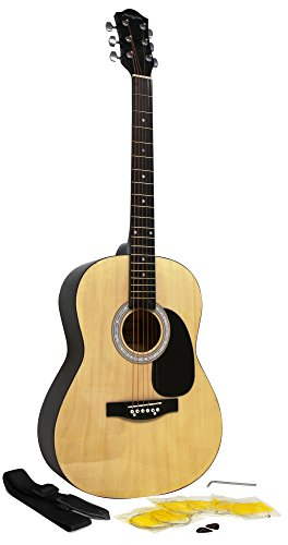 Martin Smith W-100 Acoustic Guitar Package with Strings, Plecs, Strap -...