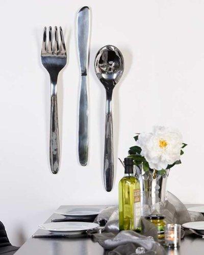 Decorazione da parete in alluminio nobile non cucchiaio forchetta ...