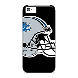 ConnieJCole Snap On Hard Case Cover Nfl Detroit Lions Helmet Logo Protector For Iphone 5c