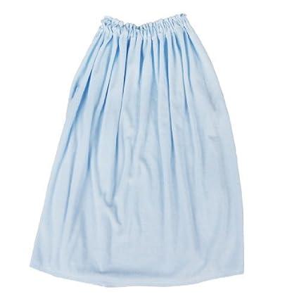 Miki y CO Terry azul claro elástico Top envolver toalla albornoz para niña