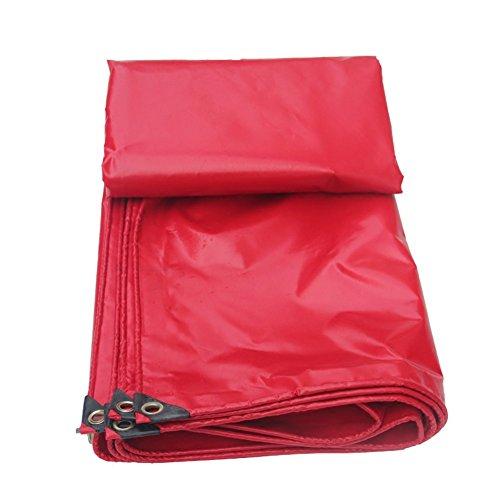 適格湿地コンペQIANGDA オーニング テント赤い防水シート屋外の天井の布の車の公園の雨の布の腐敗防止防寒耐熱耐食性-450グラム/平方メートル、厚さ0.36ミリメートル、サイズカスタマイズ可能 (サイズ さいず : 5 x 7m)