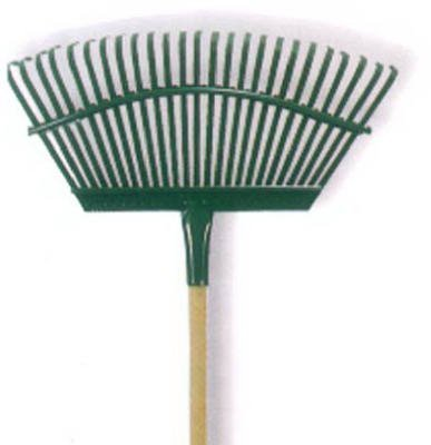 Flexrake 1A 19'' Flex Steel Head 4' Handle Leaf Rake