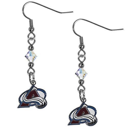 Colorado Avalanche Nhl Light - Siskiyou NHL Colorado Avalanche Crystal Dangle Earrings