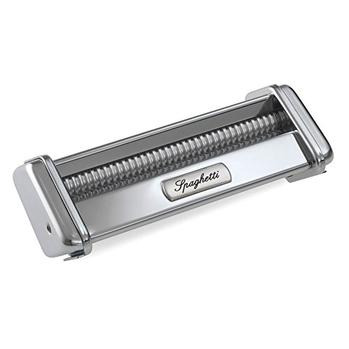 Marcato Atlas Spaghetti Pasta Cutter Attachment, Made in Italy, Stainless Steel, Works with Atlas Pasta Machine
