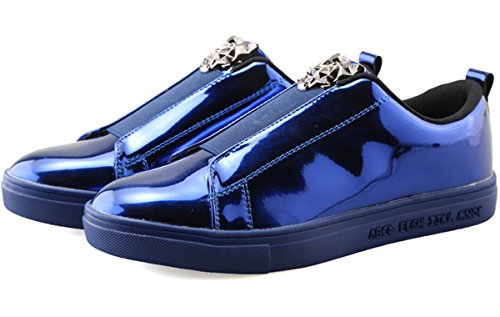Black Color Wangjiaohou On Slip Blue 4 All Gold Blue Casual Men's Walking Match Fashion Sneakers Sliver Sneakers x0Hw0Irq