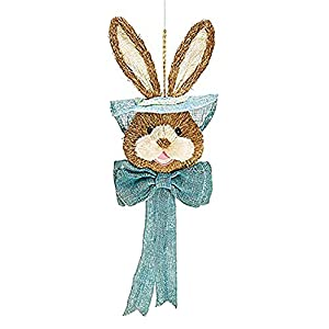 Easter Bunny Head Hanging Holiday Door Decoration-Pink, Blue or Green 115