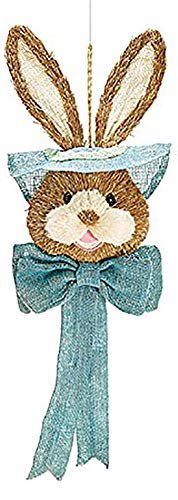 Easter-Bunny-Head-Hanging-Holiday-Door-Decoration-Pink-Blue-or-Green