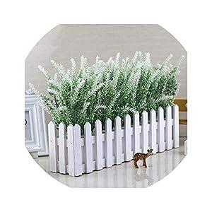 Artificial Lavender Flower with Wooden Vase Set Silk Flowers Home Kindergarten Window Decoration Gift,G 29