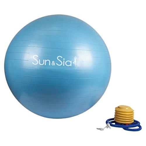 Ballon suisse pour fitness, yoga et gym avec pompe mixte adulte
