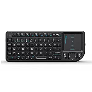 rii mini wireless 2 4ghz keyboard with mouse touchpad remote control black mini x1. Black Bedroom Furniture Sets. Home Design Ideas