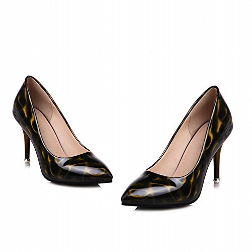 Mee Shoes Damen high heels Shallow Mund einfach Pumps Schwarz