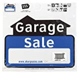 "Hy-Ko Sign 12"" X 13"" Garage Sale Weather Resistant Corrugated Plastic"