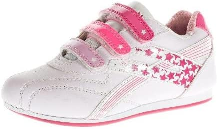 GIRLS VELCRO TRAINERS KIDS CASUAL