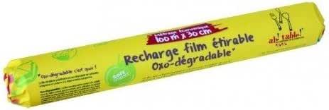 Film alimentación oxo biodegradable, recambio 100m: Amazon.es: Hogar