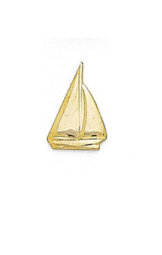 14K Yellow Gold Sailboat Tie Tac-88671 by L&M (Image #1)