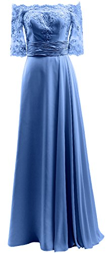 Dress Horizon Formal Lace Gown Prom the Shoulder Evening MACloth Chiffon Half Sleeve Off npzY7nwq0S