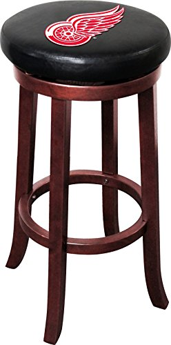 Imperial Officially Licensed NHL Furniture: Wooden Bar Stool, Detroit Redwings