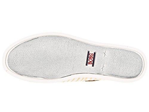 BOBS von Skechers Frauen Chill Luxe Flat Weißes Gold