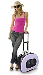 Tough-Shell Wheeled Collapsible Final Destination Pet Carrier, Purple, One Size
