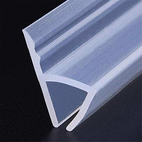 1Pcs 1M/2M Bath Shower Screen Door Window H Shape Seal Strip Curved Rubber 6Mm/8Mm@6Mm_2M (Curved Bath Shower Screen Rubber Plastic Seal)