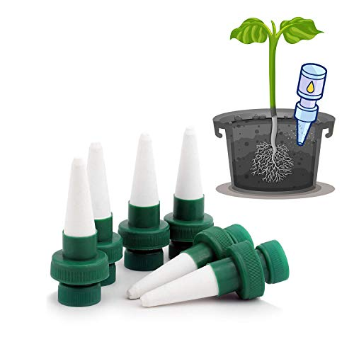 BROTOU Self Plant Watering Spikes Slow Release for Indoor and Outdoor Potted Plant Automatic Vacation Irrigation Watering Spike System Care Your Trees, Flowers, or Your Garden 6 Packs