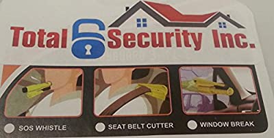 Premium 3-in-1 Self Rescue Emergency Tool, Whistle Blower, Seat Belt Cutter & Car Window Breaker - Lightweight & Portable Life-saving Preparedness Tool + FREE PDF - Assist Passengers & Motorists who are in Dangerous Situations from Johnson Family Essentia