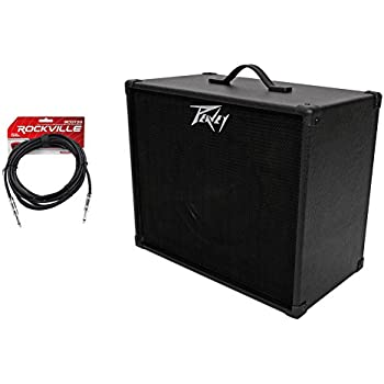peavey 112 extension cabinet w 12 blue speaker 20 ft guitar cable musical. Black Bedroom Furniture Sets. Home Design Ideas