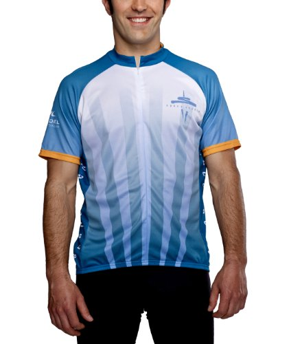 Seattle Space Needle Cycling Jersey, 50th Anniversary, Blue, Men's Club Cut