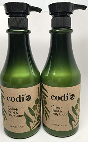 Codi Olive Hand & Body Lotion 750ml/25oz (pack of 2)