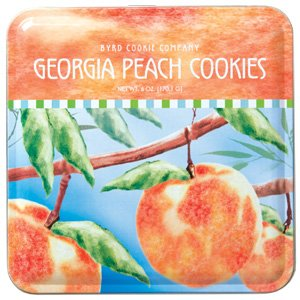 Georgia Peach Cookies Tin from Byrd Cookie ()