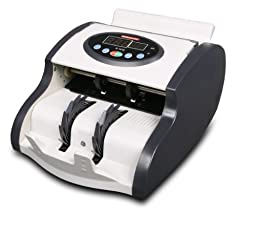 Semacon S-1015 Compact High Speed Mini Currency Counter with Ultraviolet Counterfeit Detection, 900 Notes per Minute, Batching Range 1-999, Friction Roller System, Hopper/Stacker Capacity 80 – 120 Notes Note Size From 115 x 50 to 167 x 85 mm