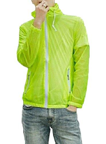 Arredata Sottile Vento Con Esterna Uv Giacche Verde Uomini Giacca Cappuccio A Againg Proteggere Z6FwYInqp