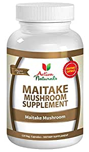 Activa Naturals Maitake Mushroom Supplement - 120 Veg. Capsules with Grifola Frondosa Mushrooms