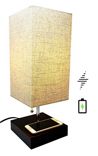 Table Lamp with Wireless Phone Charging Base | Qi Wireless C