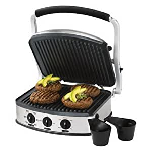 Oster panini grill with removable plates electric contact grills kitchen dining - Grill with removable plates ...