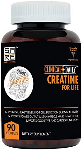 Natural Creatine Monohydrate Powder Tablets by Clinical Daily. Triphase Blend with Micronized Creatine, Alpha-Ketoglutarate and Pyruvate, Safe Effective for Keto Men, Women, Teens, Seniors. 90 Count
