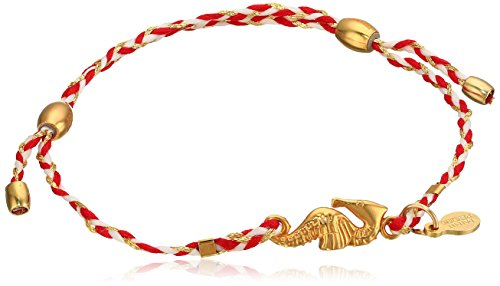 Alex and Ani Seahorse Expandable Red 14k Bracelet (Alex And Ani Horse Pull Cord Bracelet)