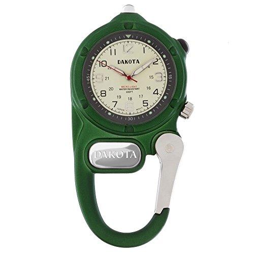 Dakota Green Mini Clip Microlight Watch Pocket Watch Timepiece