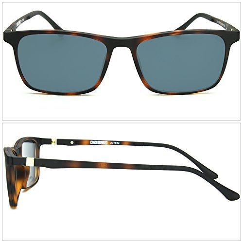 ZENOTTIC Prescription Ready Sunglasses Magnetic Clip-on + Rx-able Ultem Glasses