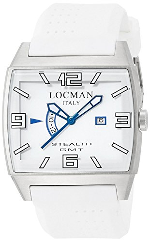 LOCMAN watch stealth video Quartz GMT silicon strap Men's 0300 030000WHFBLKSIW Men's [regular imported goods]