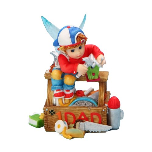 My Little Kitchen Fairies from Enesco Boy in Tool Box Figurine 4.5 IN