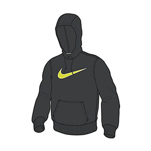 Sudadera con aplicaci¨®n Nike Mens Club Po-swoosh Antracita / dk Grey Heather / volt Large (L)