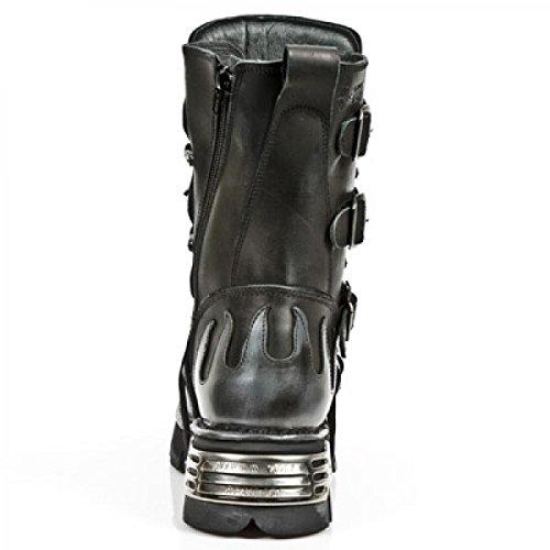 New Rock Støvler M.591-r20 Gotisk Hardrock Punk Unisex Stiefel Sort x0vci