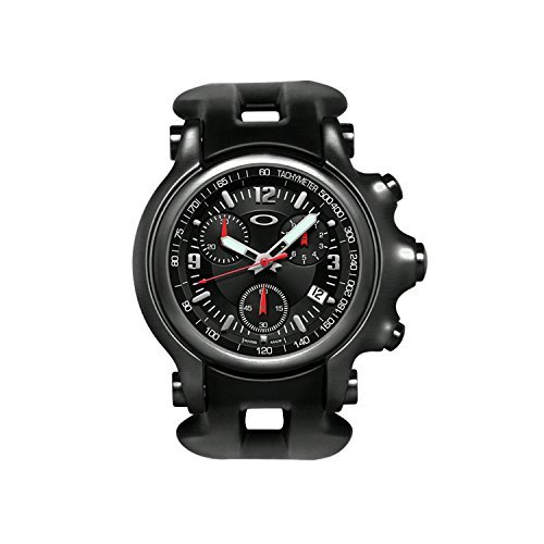Oakley Men s Holeshot Unobtainium Stainless Steel Chronograph Tachymeter  Watch - Black Stealth  Amazon.ca  Watches ebc5f1e7d1