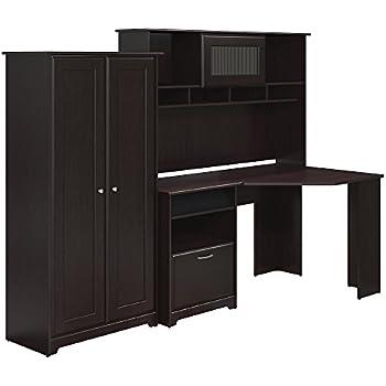 Amazon Com Bush Furniture Cabot Corner Desk Hutch And